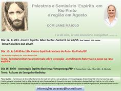CEFA convida para Seminário com Jane Maiolo em São José do Rio Preto - SP - http://www.agendaespiritabrasil.com.br/2015/08/10/cefa-convida-para-seminario-com-jane-maiolo-em-sao-jose-do-rio-preto-sp/