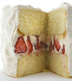 Strawberry Whipped Cream Cake Recipe
