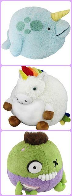 Squishable stuffed animals: Narwhal, unicorn, zombie oh my!