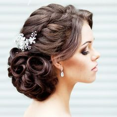 18 Jaw- Dropping Wedding Hairstyles (via Elstile)