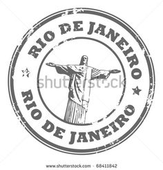 Grunge rubber stamp with the statue of the Christ the Redeemer and text Rio de Janeiro, vector illustration by astudio, via ShutterStock Bubble Stickers, Phone Stickers, Round Stickers, Grunge, Christ The Redeemer, Passport Stamps, Custom Stamps, Aesthetic Stickers, Tampons