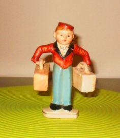 Vintage 1940s Porcelain Bell Boy Salt and Pepper Shaker Very RARE | eBay