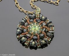 Sanibel Medallion Swarovski Crystal Pendant Necklace on Satin Gold on 24in Chain