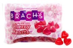 Brach's Jube Jel Cherry Hearts are Chewy, Cherry flavored shaped Hearts in a 12 ounce bag.