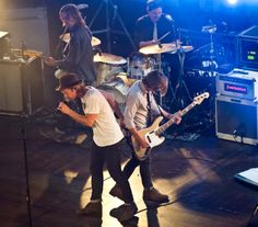 Brothers got each others back. Jon Foreman and Tim Foreman of Switchfoot.