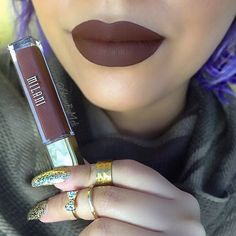 """ My beauty's on a budget if you looking for a dupe for #kylielipkit in the color true brown this is it @milanicosmetics Amore Lip Creme in the color…"""