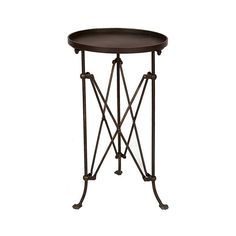 Fashioned of bronze-finished metal, this characteristic table belongs in a room of stylish mystery. Its insect-like legs capped by three tiny feet create a whimsical, yet artistic nature that works exc...  Find the In Character Round Side Table, as seen in the Onstage in Nashville Collection at http://dotandbo.com/collections/onstage-in-nashville?utm_source=pinterest&utm_medium=organic&db_sku=101753