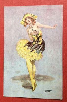 CPA-Illustrateur-GAYAC-Danseuse-Music-Hall-Ballerine-Denude-Coquin-298