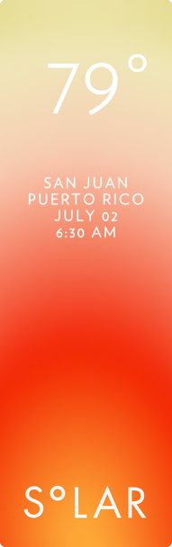 Cangrejo Arriba weather has never been cooler. Solar for iOS.