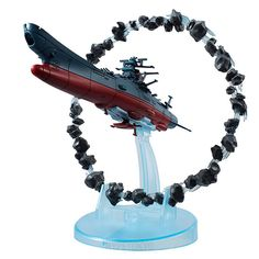Space Battleship Yamato 2202 -Warriors of Love- Mega House Non Scale Model : Space Battleship Yamato with Asteroid Ring