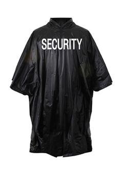 Black Security Vinyl Poncho ! Buy Now at gorillasurplus.com