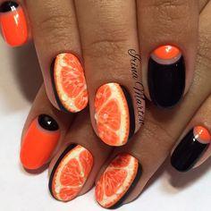 Апельсин дизайн ногтей