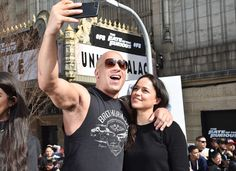 SNAP DECISION Vin Diesel and Michelle Rodriguez share a selfie on Tuesday in N., where they're promoting The Fate of the Furious. Fate Of The Furious, Fast And Furious, Dom And Letty, I Dont Have Friends, Star Track, Jessica Biel, Vin Diesel, Paul Walker, Celebrity Couples