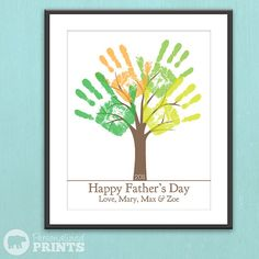 DIY Child's Handprint Tree