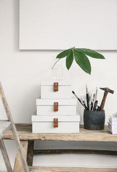 DIY: Förvaringslådor, skrivbord, office space