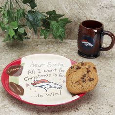Denver Broncos Cookies For Santa Gift Set