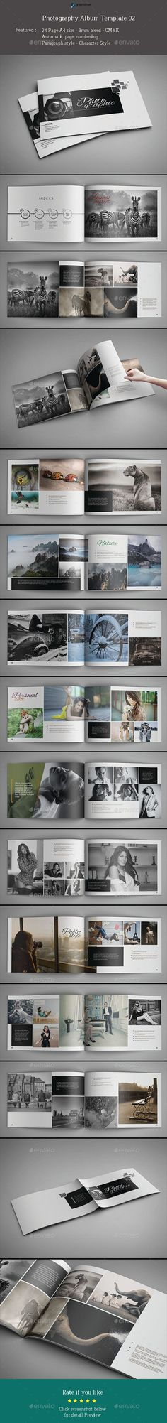 Photography Album Template #design #print Download: http://graphicriver.net/item/photography-album-template-02/11675839?ref=ksioks #PhotoAlbum