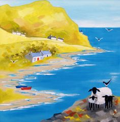 ROWENA LAING - Coast-Seabirds
