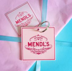 Mendl's Patisserie Keyring / Gift Tag from The Grand Budapest Hotel