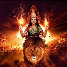 Durga is worshipped in Hindu temples across India and Nepal by Shakta Hindus Shiva Parvati Images, Durga Images, Shiva Shakti, Lord Durga, Durga Ji, Lord Krishna, Maa Durga Photo, Maa Durga Image, Maa Durga Hd Wallpaper