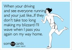 Should be: **you're driving... **you're just like...., but this is hilarious