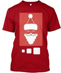 Christmas Loading Deep Red T-Shirt Front
