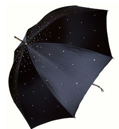 "Like the sparkly ""raindrops"" on this umbrella."