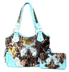 Blue & Camo Purse & matching Wallet