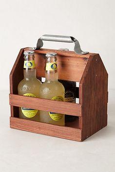Wooden Beverage Caddy - anthropologie.com #anthroregistry