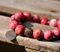 Beautiful Red Beaded Bracelet - would love a runner-inspired one with Run. or 13.1 on it!