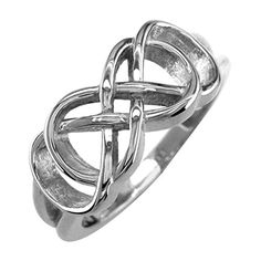 Double Infinity Symbol Ring Best Friends Forever Ring Sisters Ring 8mm Wide in Sterling Silver size 9 * For more information, visit image link.