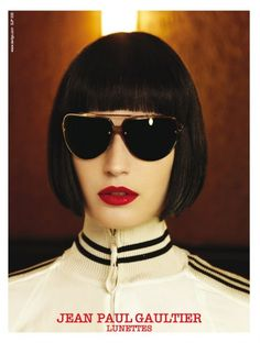 Vintage Jean Paul Gaultier Aviator Sunglasses #poster from the 1990s #womensfashion #eyewear