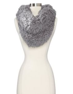 collection eighteen Women's Shirley Faux Fur Oversized Cowl, Wild Silver, One Size Collection XIIX. $13.02