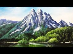 Paint Mountains With Acrylic Paints - lesson 3 - YouTube