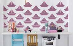 Vinyl sailing boats really add character to any wall. Take a look at our whole range of patterned graphics and wall coverings.