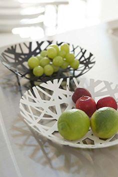 YAMAZAKI Home Tower Fruit Bowl, Black