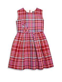 Oscar de la Renta - Toddler's & Girl's Plaid Darted A-Line Dress