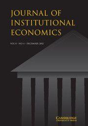 Journal of Institutional Economics - http://journals.cambridge.org/joi
