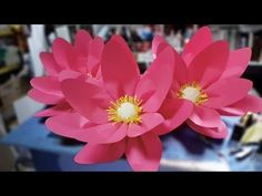 Recycled DIY: How to make LOTUS flowers with waste water bottles? - YouTube