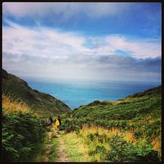 Walking over the cliffs from Mortehoe to Bullpoint Lighthouse. North Devon, Lovely Things, Over The Years, Childhood Memories, Lighthouse, Places Ive Been, Britain, Scenery, Walking