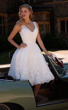 A-line Lace Wedding Dress from wedding dresses More