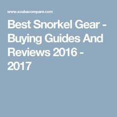 Best Snorkel Gear - Buying Guides And Reviews 2016 - 2017
