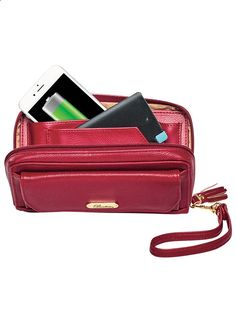 Buxton® RFID Tech Wallet with Phone Charger at www.FeelGoodSTORE....