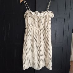 JCrew spaghetti strap silk stunner! This dress is perfect alone, belted, or with a jean jacket. J. Crew Dresses