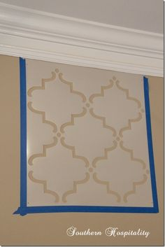 Easy How-to Stencil a Wall