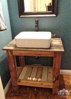 Share your largest DIY Project Money Saving Bathroom Revamp! Share your largest DIY Project Related posts: How to Build a DIY Vintage-Style Bathroom Vanity Rustic Bathroom Shelves, Diy Bathroom Vanity, Rustic Bathroom Vanities, Diy Vanity, Diy Bathroom Remodel, Vanity Sink, Bathroom Ideas, Vanity Ideas, Simple Bathroom