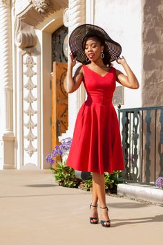 Pinup Couture Havana Nights Dress in Red | Vintage Style Dress | Pinup Girl Clothing