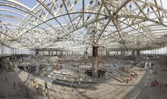 Image 10 of 23 from gallery of Chhatrapati Shivaji International Airport - Terminal 2 / SOM. Constuction of steel truss system. Tree Structure, Building Structure, Mini Clubman, International Flights, International Airport, Steel Trusses, Mumbai Airport, Unusual Buildings, Terminal