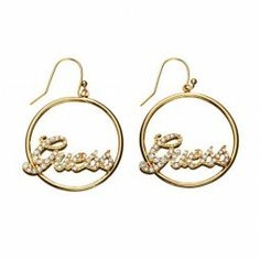 GUESS Ohrringe gold rund Logo - UBE81005