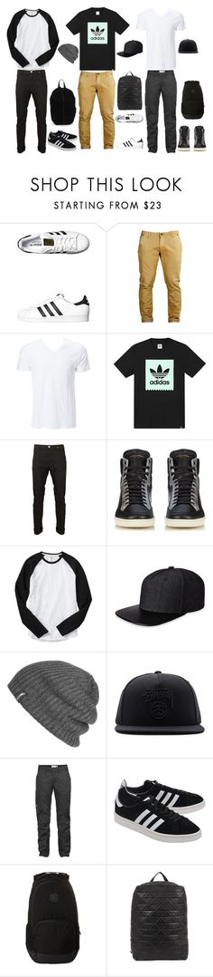 """""""Men's Casual Wear"""" by luisa-masi on Polyvore featuring adidas Originals, Simplex Apparel, adidas, Yves Saint Laurent, Gap, Gents, Outdoor Research, Stussy, Fjällräven and Hurley"""